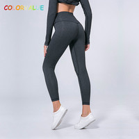 Colorvalue Anti-sweat Mention Hip Sport Gym Leggings Women High Waisted Yoga Fitness Pants Seamless Dance Workout Leggings XS-XL