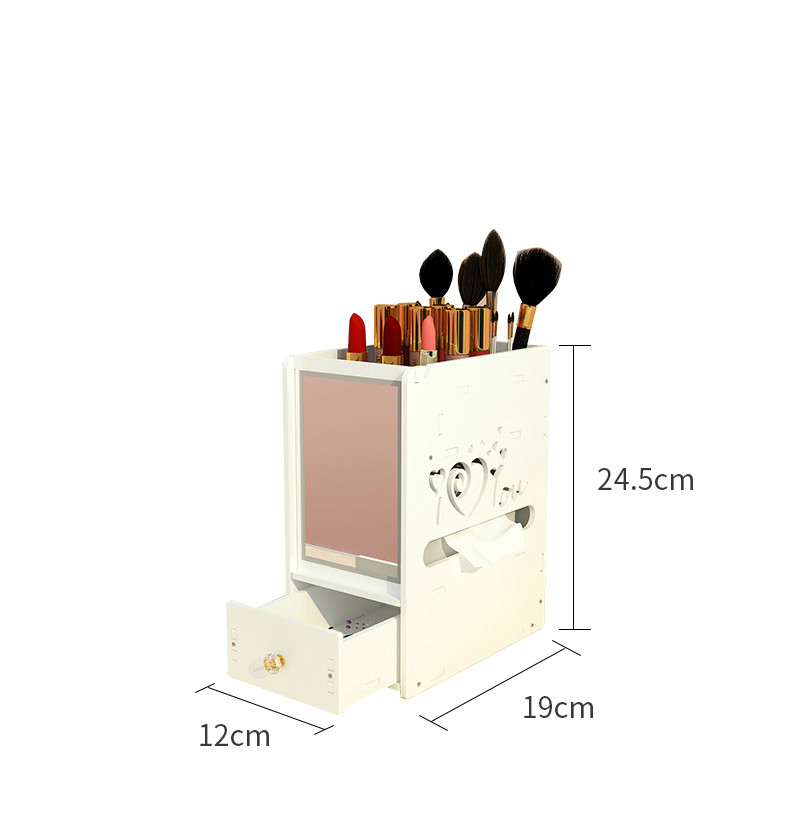 maquiagem cuidados com a pele jóias batom prateleira organizador caso