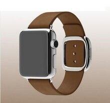 Venda de reloj para apple watch original 1:1 moderna hebilla de banda de cuero genuino para apple watch + protector de pantalla gratuito 38/42mm