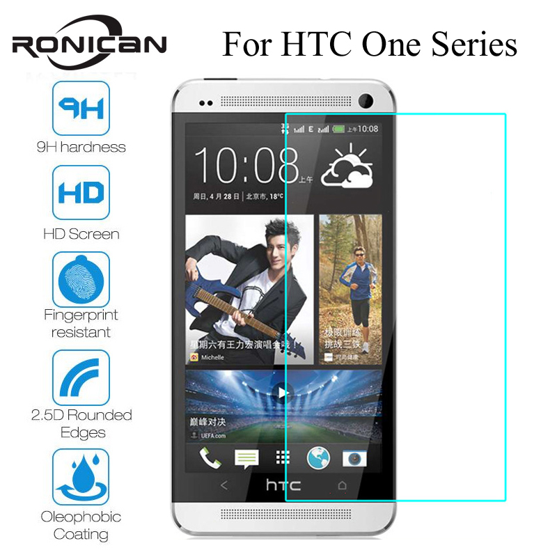 RONICAN 9H Screen Protector Tempered Glass For HTC Desire 626 610 628 HTC One M7 M8 M9 M10 E8 X9 A9 E9 Plus Protective Film