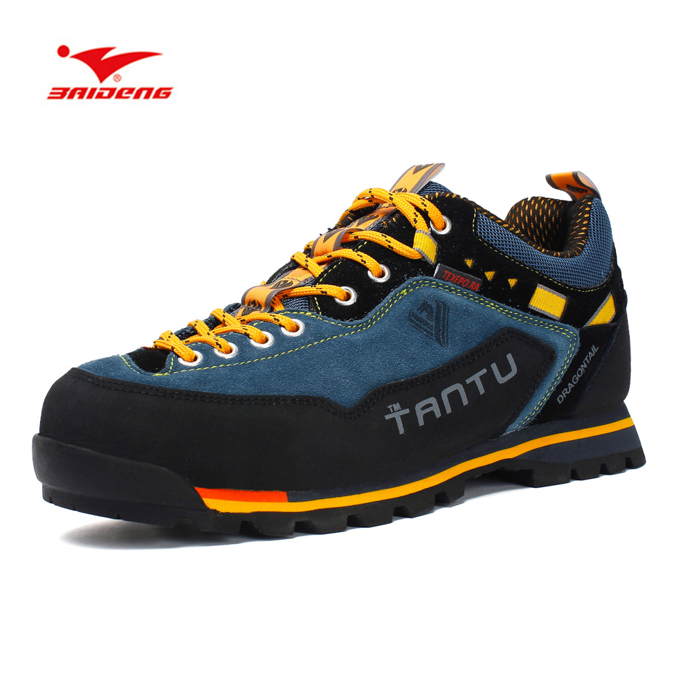 Men Waterproof Breathable Hiking Shoes Outdoor Trekking Sports Shoes Mountain Climbing Sneakers Big Size Mans Footwears 2017 new men hiking shoes non slip waterproof women trek climbing shoes outdoor breathable mountain trial lover trekking shoes