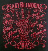 NEW PEAKY BLINDERS Thomas Shelby The Red Right Hand Inspired T Shirt Top Mens Print Short Sleeve Hot Black Style