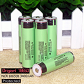 6 pcs original protected 18650 rechargeable battery 3.7 V 3400 MAH battery for Panasonic ncr18650b industrial use