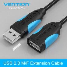 Venção USB 2.0 Macho para Fêmea USB Cabo de Extensão Cabo de Extensão Extender Para PC Laptop(China (Mainland))