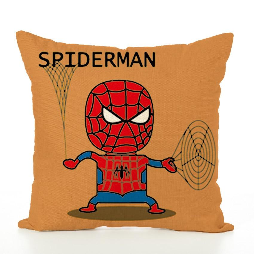 45x45cm Cartoon Spider-man Pillowcase Cushion Case Waist Throw Couch Home Chair Covers Children No Filling