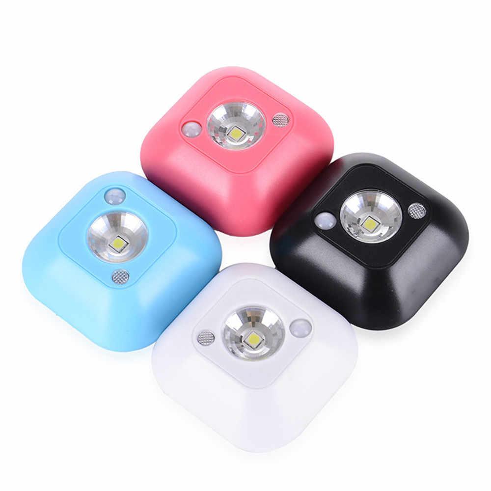 СВЕТОДИОДНЫЙ беспроводной инфракрасный Ночной светильник с датчиком движения, НАСТЕННЫЙ АВАРИЙНЫЙ шкаф для шкафа, ночник, атмосферный светильник для спальни