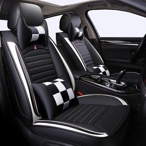 Image 2 - Передние и задние детали, универсальные автомобильные чехлы на сиденья для TOYOTA Corolla RAV4 Highlander PRADO Yaris Prius Camry из искусственной кожи