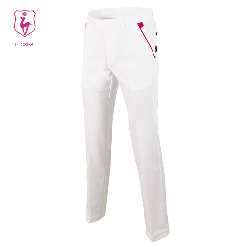 LUCXES new golf pants men clothing straight Elastic ventilated Korean design Polyester quick dry free shipping2300 цена