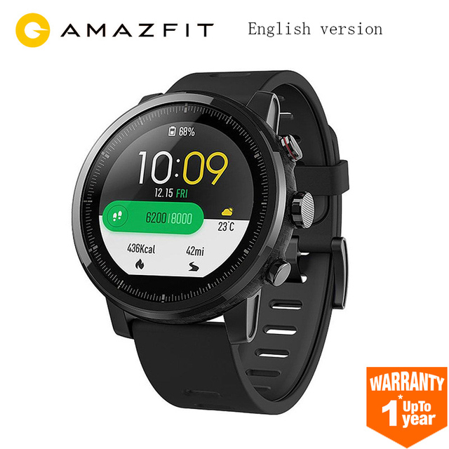 Global Version Original Xiaomi Huami Amazfit Stratos 2 Smart Watch Sport GPS 5ATM Water 2.5D GPS Firstbeat Swimming Smartwatch