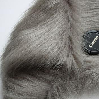 Tessuto In Pelliccia Sintetica Vicino Al Cortile | Grigio Scuro Shaggy Faux Fur Tessuto (a Pelo Lungo Di Pelliccia) Costumi Di Pelliccia Bavero Del Cappotto Di Pelliccia 36