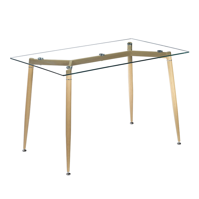 Furniture Breakfast Dining Table Clear Glass Coffee Table Kitchen Rectangular Dining Table