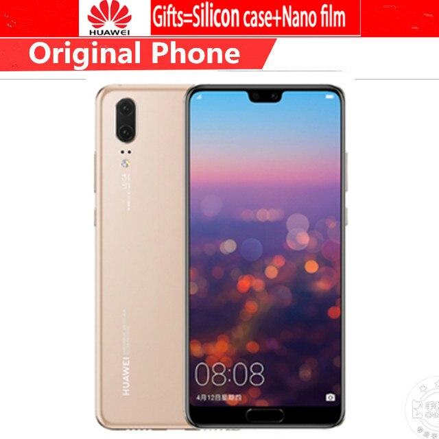 Globale Version Huawei P20 EML-L29 Smartphone Android 8,1 4G RAM 128G ROM Kirin 970 5.8 Full Screen NFC 24MP Vorne Kamera