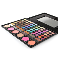 78 Color Eyeshadow Beauty Cosmetics Mineral Make Up Professional Shimmer Makeup Pigment Eye Shadow Palette Kit
