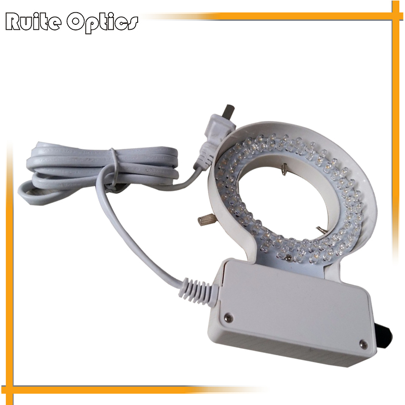 70mm Inner Diameter LED White Light Ring Lamps Microscope Light for Zoom Stereo Biological Video Microscope купить