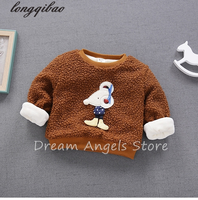 Top quality 2017 Baby Sweatshirt Kids Clothes Cartoon printing Warm Pullover Thick Baby Boy Girls Clothes Sweatshirt 08