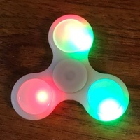 Hand Tri Glow In The Dark Led Fidget Spinner Voor Autisme ADHD Speelgoed EDC BUREAU