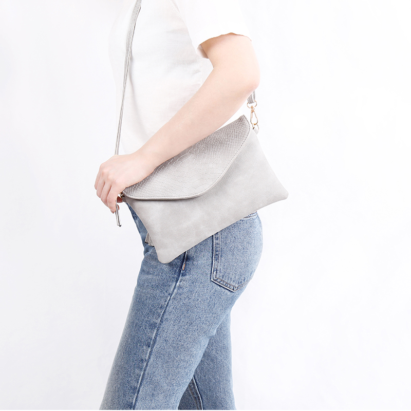 Women Bag Brand 2018 New Arrival Day Clutches Fashion Bags Leather Fold Over Shoulder Bag Ladies Alligator Pattern Bag 510079