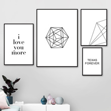 Geometric Line Love Quote Landscape Wall Art Canvas Painting Nordic Posters And Prints Wall Pictures For Living Room Wall Decor cactus coconut leaves quote wall art canvas painting nordic posters and prints landscape wall pictures for living room decor