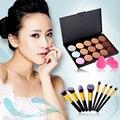 10 Colors New Pro Concealer Palette + 8 Pcs Makeup Brushes + 2 Pcs Puffs Makeup Contour Palette Paleta De Corretivo Facial