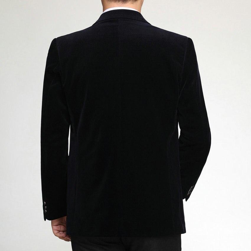 WAEOLSA Men Striped Velvet Blazers Elegant Plain Color Suit Coats Man Wool Blazer Hombre Corduroy Suit Men Jackets Red Navy Blue