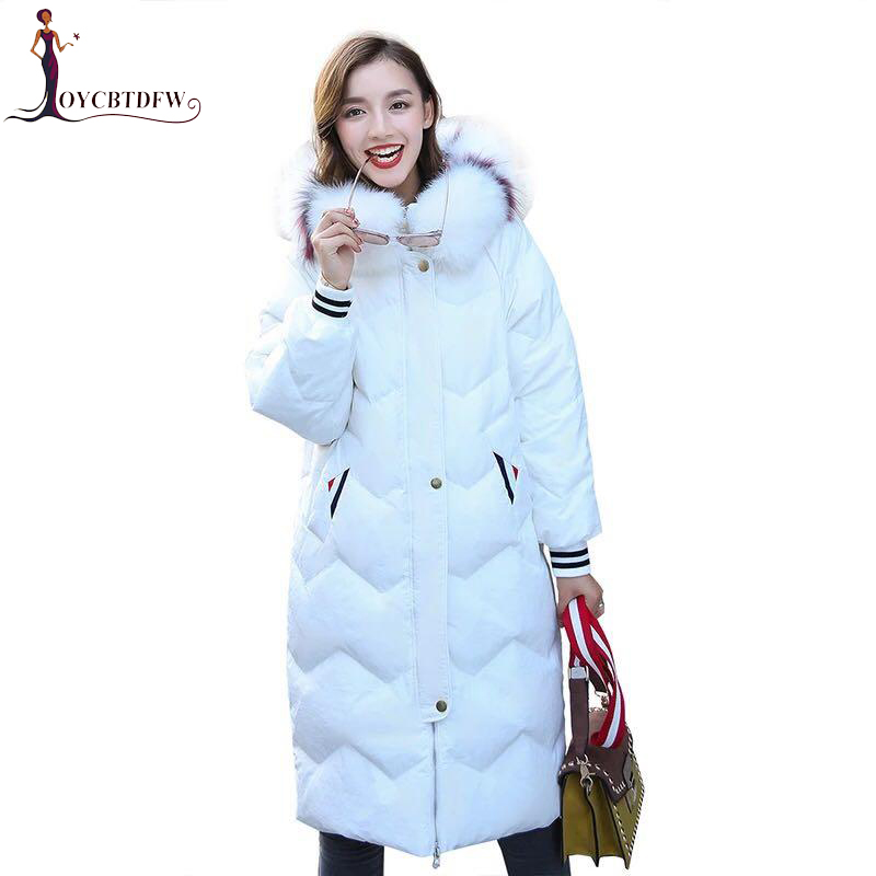 Outerwear New Autumn Women Jacket 2018 Winter   Coat   Women Long Parka White duck   down   jacket Casual Female   down     coats   tops XY359