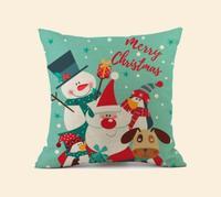 Pillow cotton pillow Santa Claus holiday gift car sofa cushion