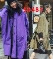 2016 Mulheres Da Moda Trench Coat Tarde Prós E Contras de Usar Um Rua Casacos Exército Verde Roxo 5048
