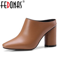 FEDONAS 2018 Sexy Rom Stil Super High Heels Echte Lederne Schuhe Frau Valentine Komfortable Casual Pumpen Schuhe