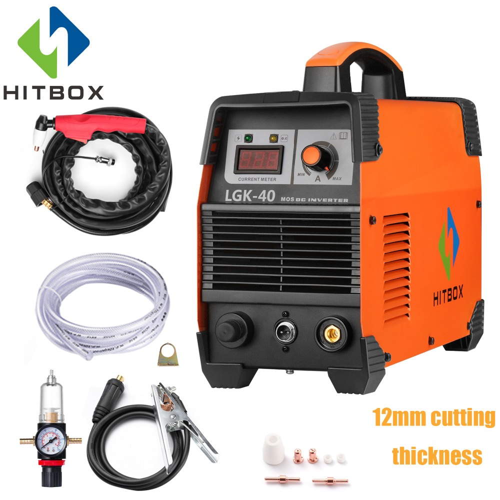 HITBOX Cut40 Plasma Cutter Mosfet Technology Thickness 12mm Cutting Machine Cutting Stainless Steel Carbon Steel Aluminum