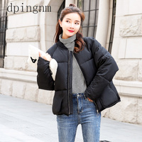 2018 New style Casual Short Solid Winter Women Jacket Winter Women Cotton Padded Coat Thicken Warm Down Parkas