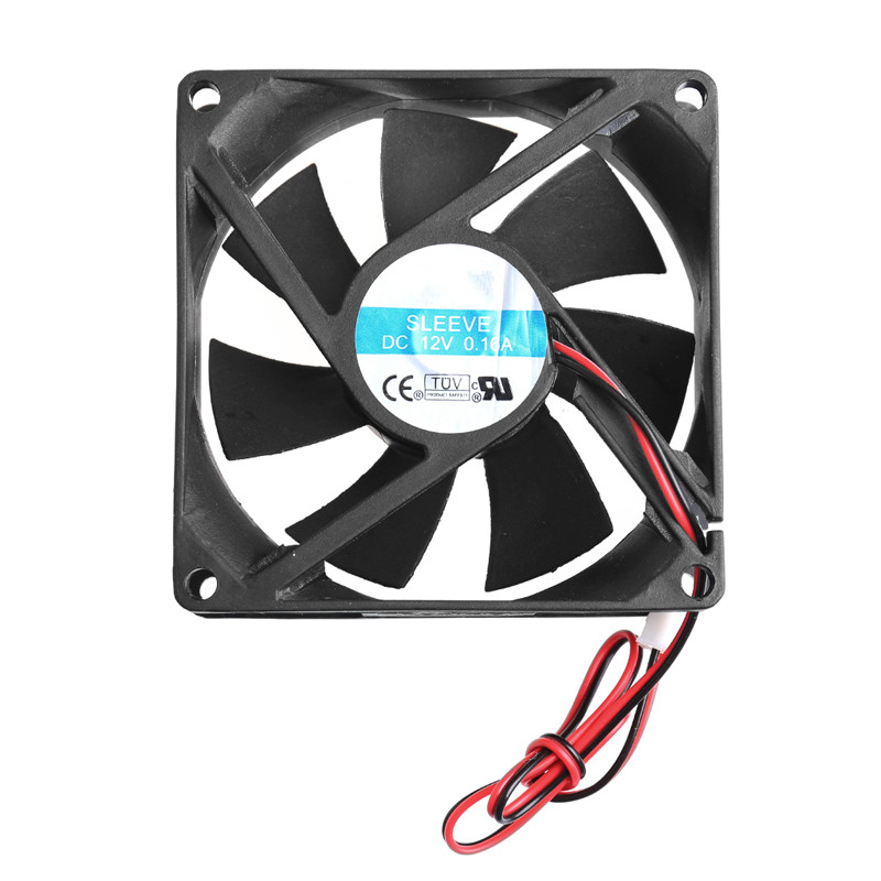ANENG HOT! 80 x 80 x 25mm 12V 2-pin brushless cooling fan for computer CPU System Heatsink Brushless Cooling Fan 2200rpm cpu quiet fan cooler cooling heatsink for intel lga775 1155 amd am2 3 l059 new hot