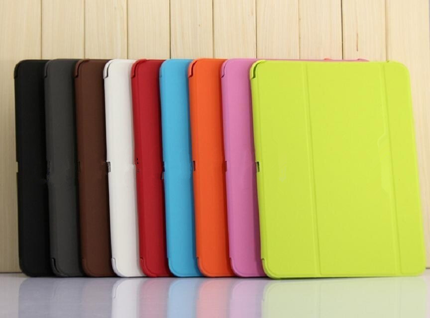 2017 NEW wholesale Folding Smart Leather Book Cover case for samsung galaxy tab 4 10 1