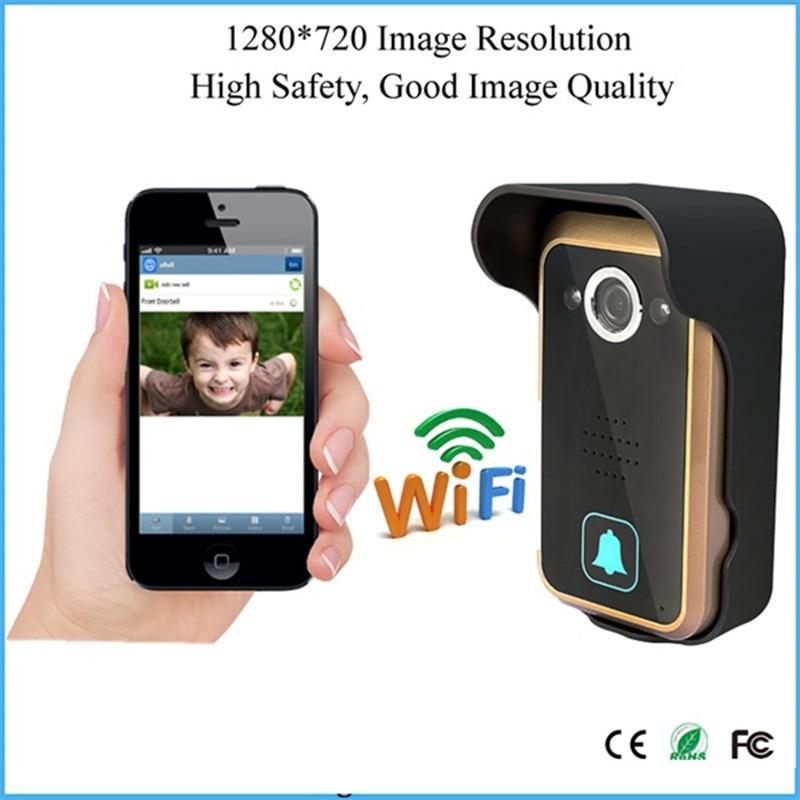 1280X720P WiFi Doorbell Wireless Intercom  Video Door Phone