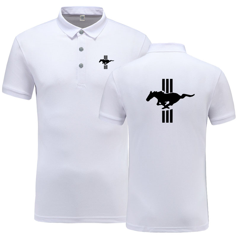 New Arrival Brand Clothing Men Mustang logo Polo Shirt Casual Male Polo Shirt Short Sleeve Polo Shirt