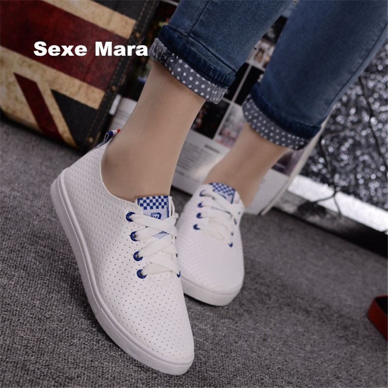 2017 women shoes hollow Cortex breathable Low help small white shoes fashion woman jogging casual shoes Superstar zapatos hombre