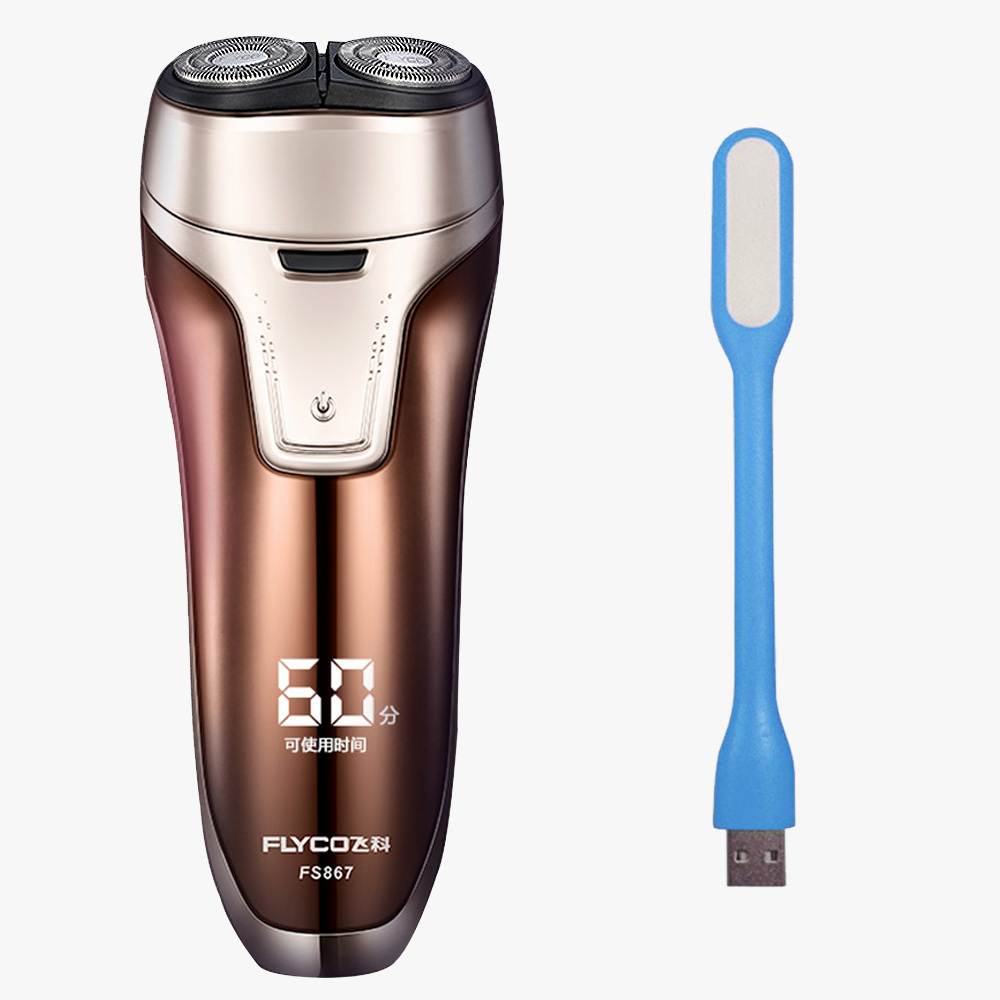 Flyco Rasuradora Electrica Hombre Gold Twin Blade Razor Whole Body Washing Barbeador Eletrico FS867-D USB Lamp бра reccagni angelo a 6208 1