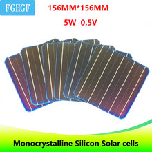 10PCS 5BB painel solar 4.9W panneau solaire Monocrystalline Silicon Solar Cells 6x6 For DIY Panel cell charger