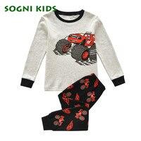 Baby Boys Girls Clothing Set Children Kids Pajama Cotton Homewear For 2017 Toddler Pijamas Clothes Long