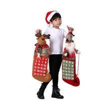 Christmas Decoration For Home Christmas Advent Calendar Santa Claus Snowman Gift Bags Xmas Gift For Kids Christmas Pendant