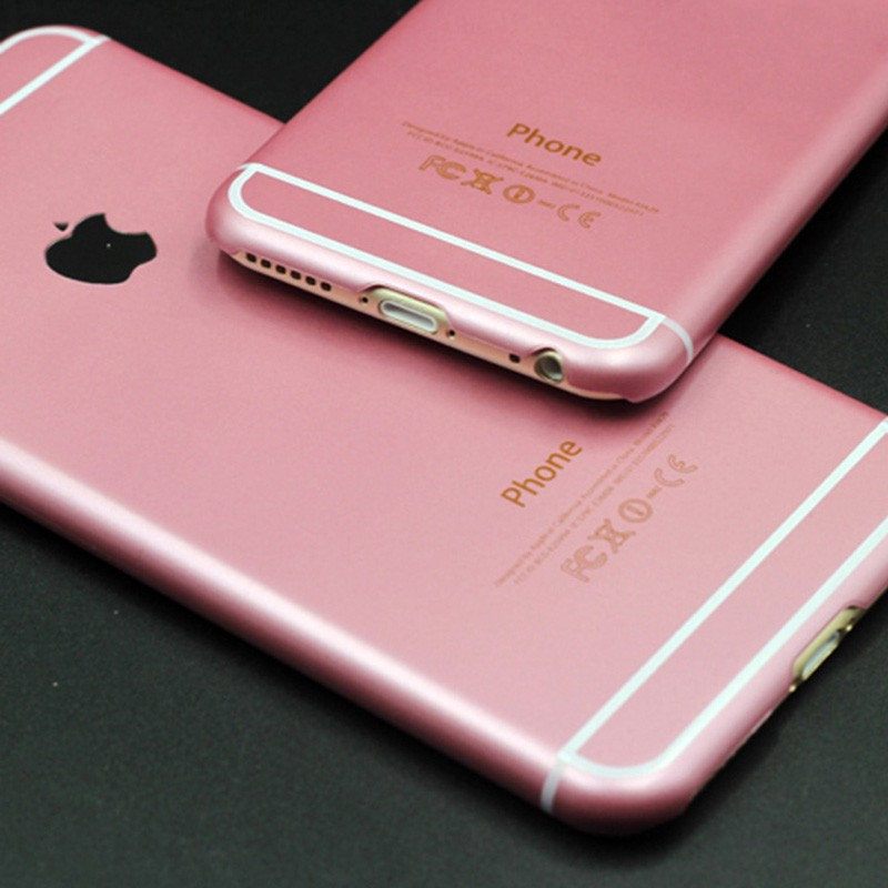 Luxury Original Rose Pink Color Case For iPhone 6 6S / Plus 5.5 Phone ...