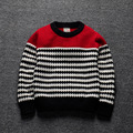 2016 Spring Autumn Brand Baby Girl Boy Sweater striped Long Sleeve wave pattern Knitted Wear Wool Bebe Children Top Clothes