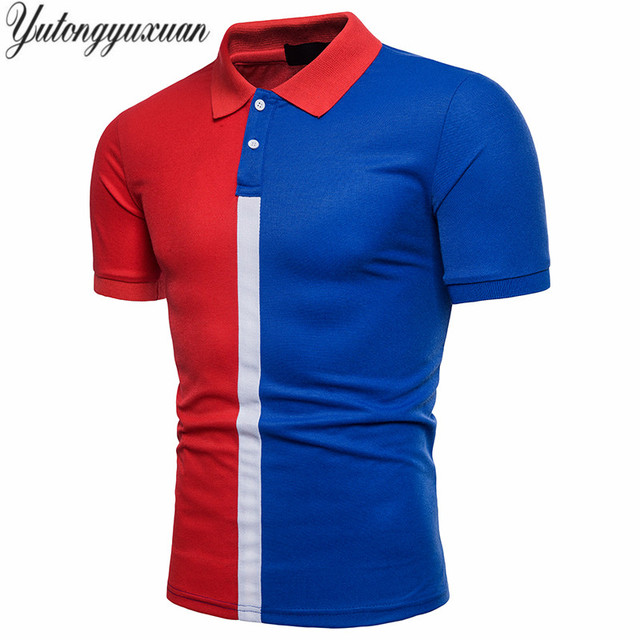 d489b18cca86d 2018 modelos finos dos homens cor hit camisas polo dos homens casuais  curto-de mangas