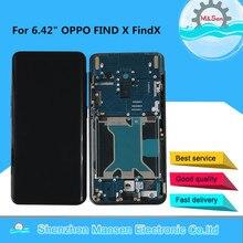 """6.42 """"Original AMOLED M & Sen สำหรับ OPPO ค้นหาหน้าจอ LCD กรอบ + แผงสัมผัสหน้าจอ digitizer สำหรับ OPPO FindX จอแสดงผล"""