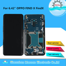 """6.42"""" Original Amoled M&Sen For OPPO FIND X LCD Display Screen With Frame+Touch Panel Screen Digitizer For Oppo FindX Display"""