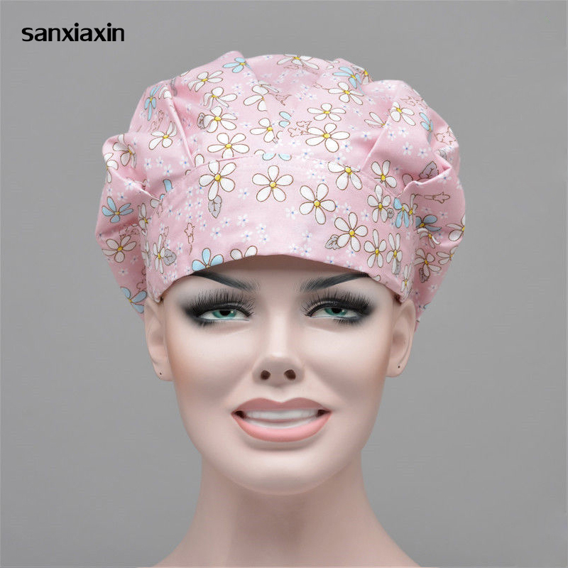 Medical Scrubs Caps Dental Beauty Salon Pet Hospital Women Surgical Caps Hospital Nurse Hat Clinic SPA Working Hat Accessories