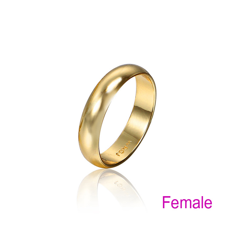 Préférence Couple Rings Gold Engagement Ring for Men Women Alliance Casamento  WN66