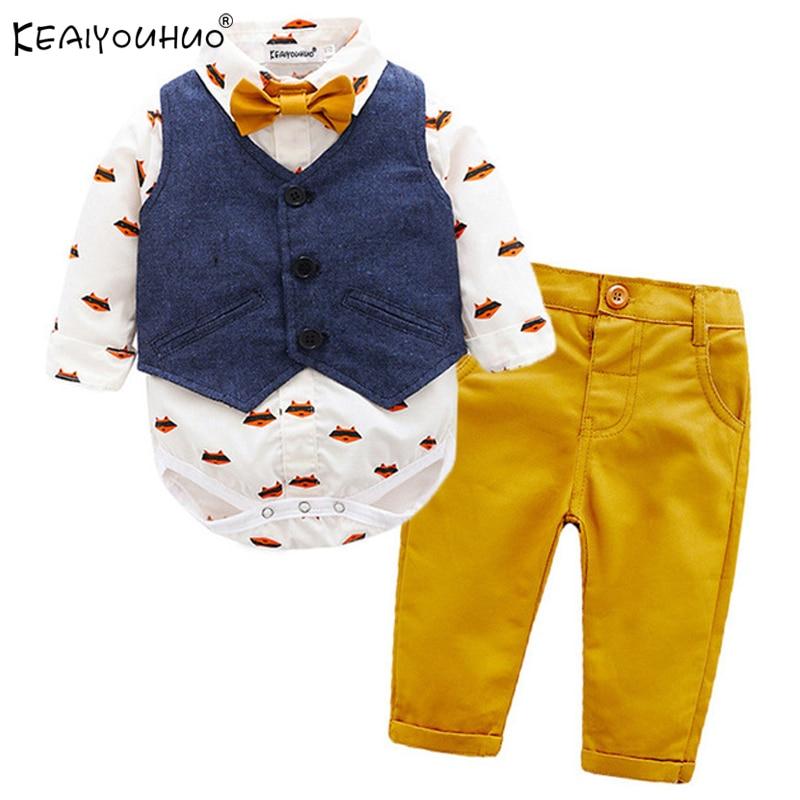 Bébé Garçons Halloween Pumpkin Sweats à capuche à rayures Pantalon 2PCS Tenues Vêtements