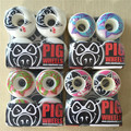 Hot Style Pig Wheels High-Density PU PIG White Durable Aggressive Skateboard Wheels 51-56mm Rodas Skate