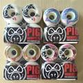 Hot Style Pig Wheels High-Density PU PIG White Durable Aggressive Skateboard Wheels 51-56mm Rodas Skate