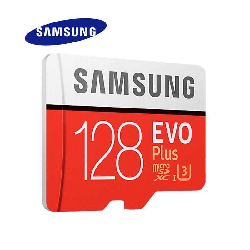 Samsung micro sd карты памяти evo + 128 гб 100 МБ/с. sdxc c10 u3 UHS-I MicroSD TF Карта Плюс 128 Г Класса 10 Класса 3 100% оригинал карта памяти микро сд для телефона карта па...